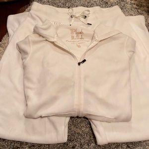 Velour Track Suit - White - Victoria Secret